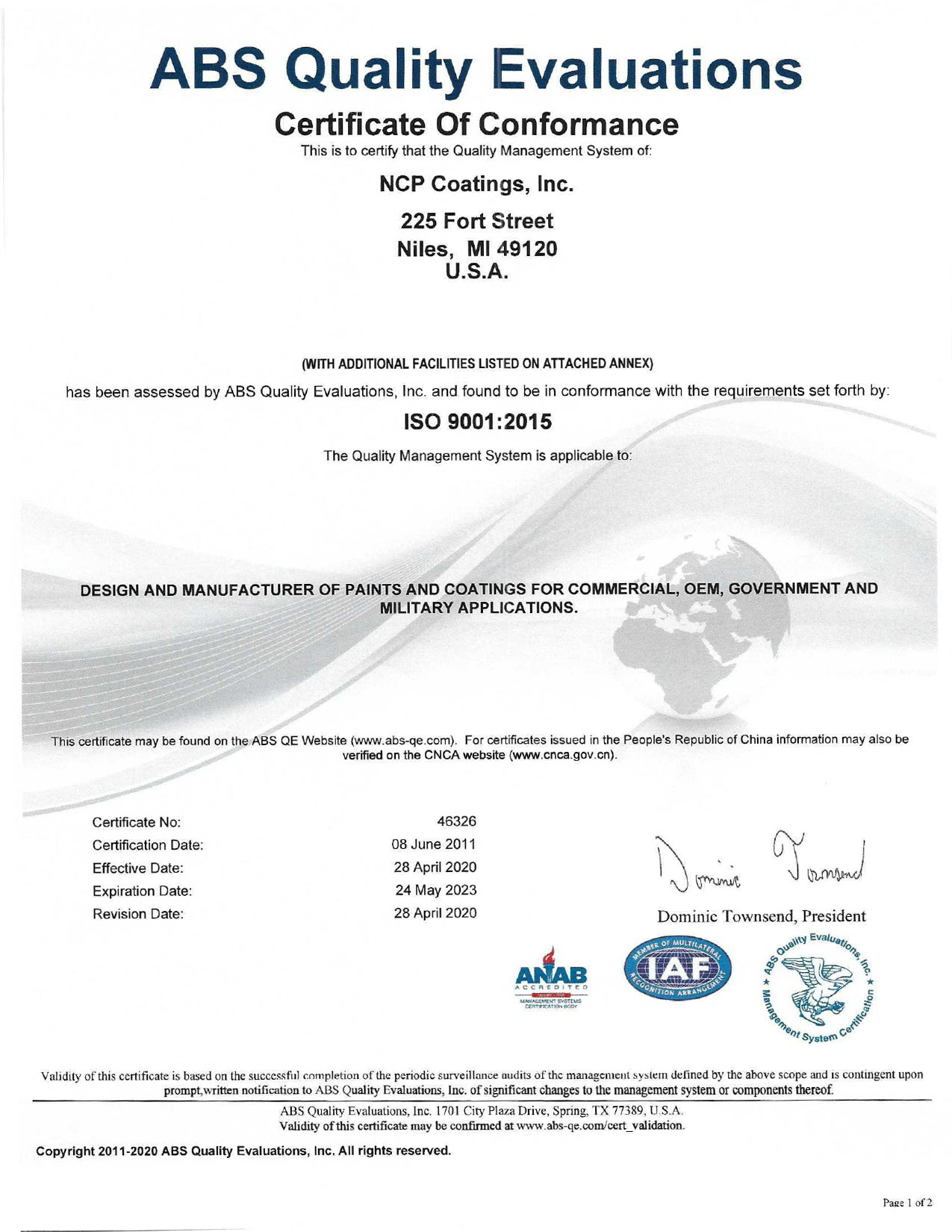 NCP ISO 9001 2015 rev April 2020 p 1
